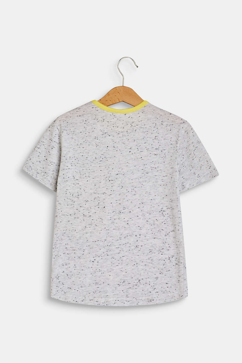 T-shirt with a patch breast pocket, HEATHER SILVER, detail image number 1