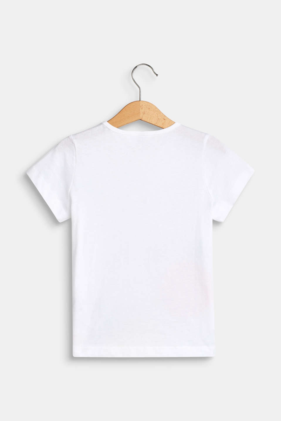 Front print T-shirt, 100% cotton, WHITE, detail image number 1