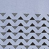 T-shirt with a triangle print, 100% cotton, LCGREY BLUE, swatch