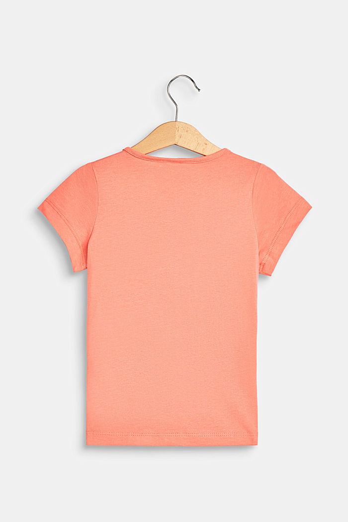 Camiseta con rótulo estampado, 100% algodón , CORAL, detail image number 1