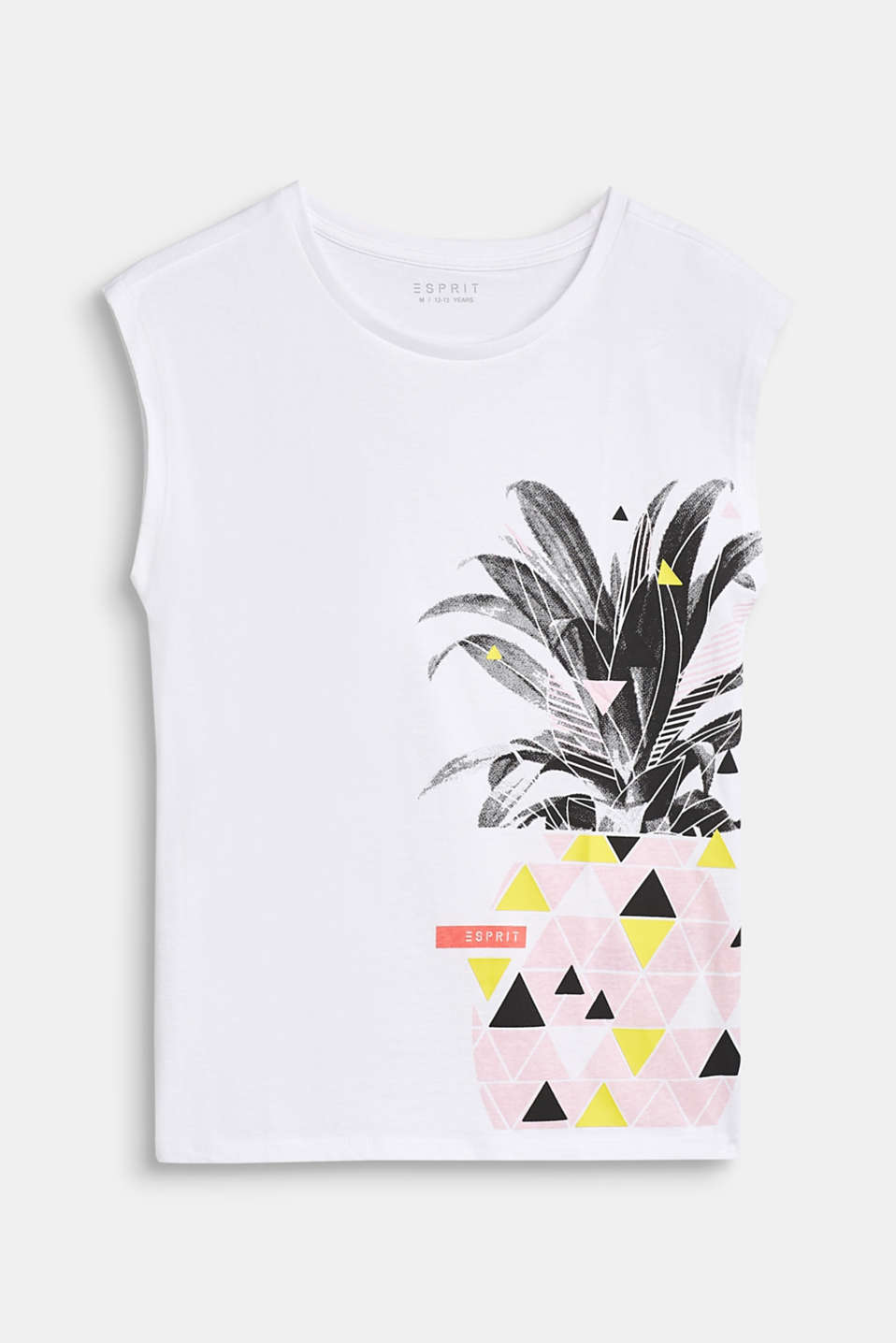 Pineapple print T-shirt, 100% cotton, LCWHITE, detail image number 0