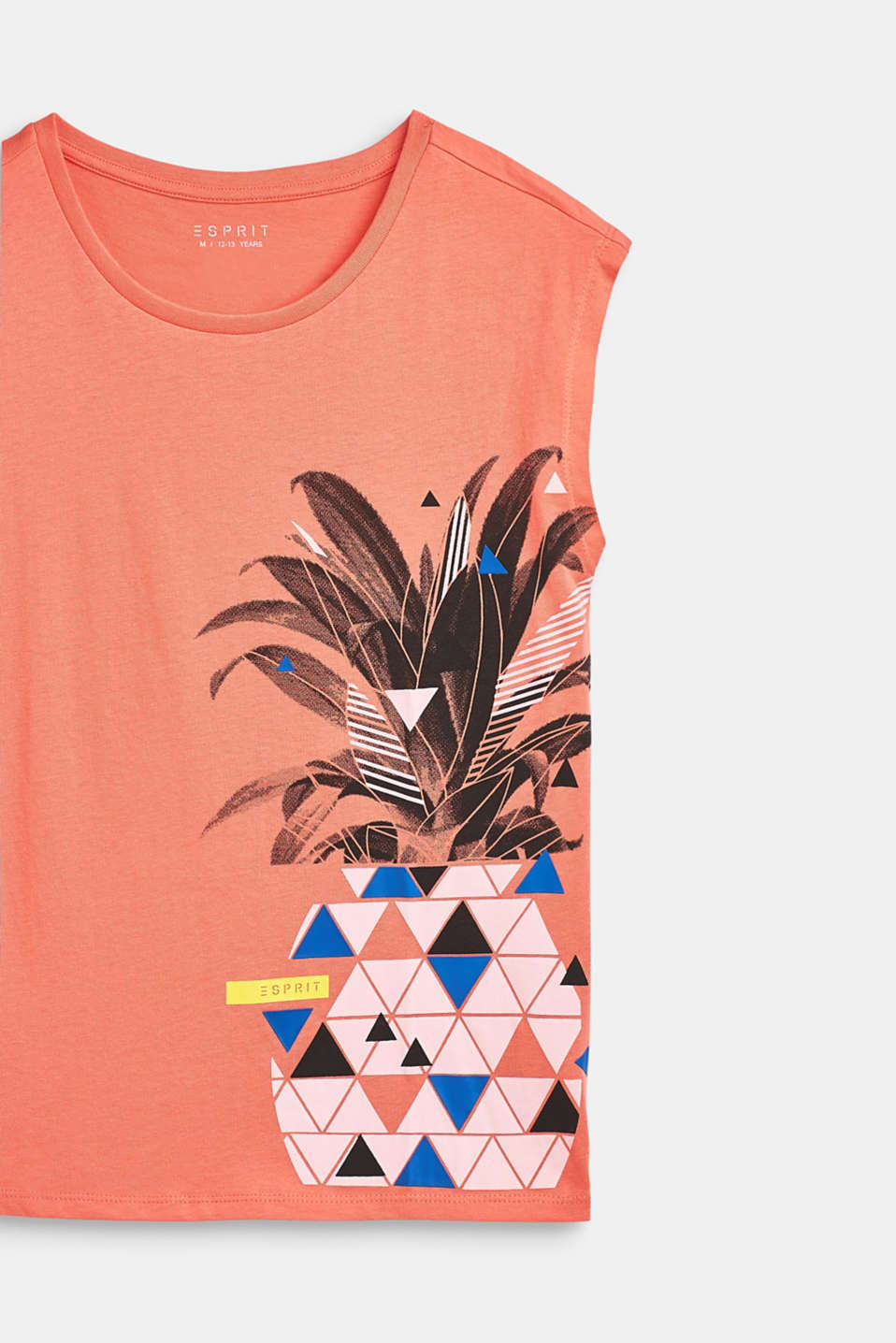 Pineapple print T-shirt, 100% cotton, LCCORAL, detail image number 2