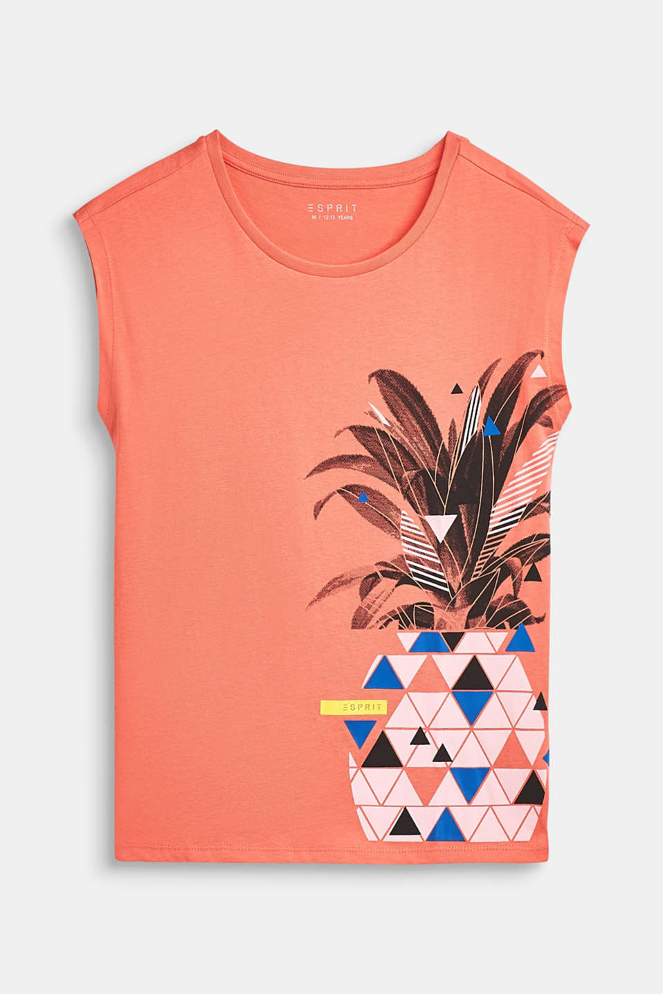 Pineapple print T-shirt, 100% cotton, LCCORAL, detail image number 0