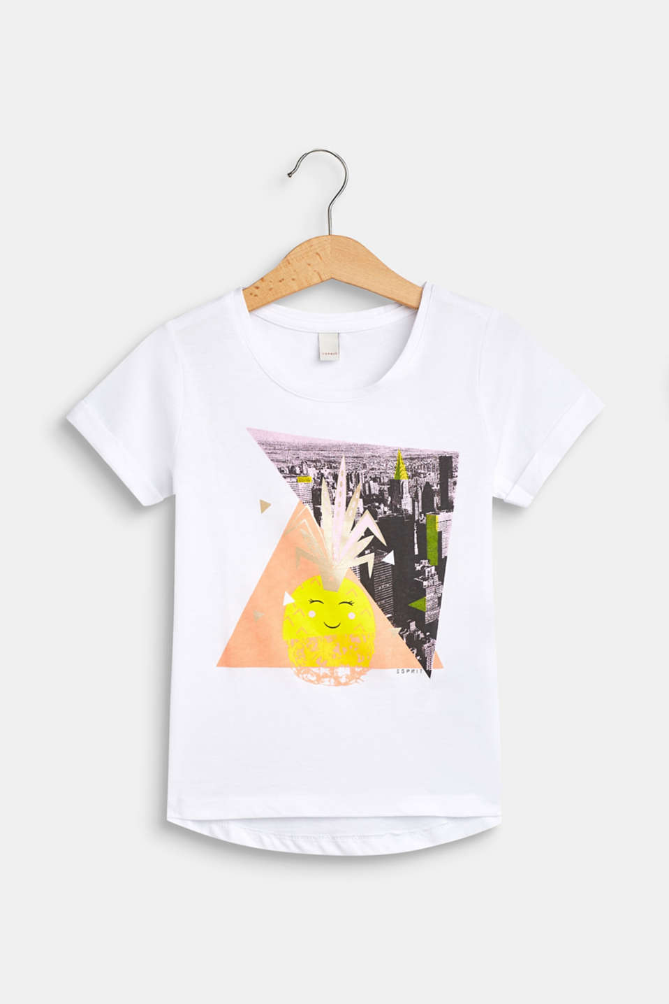 Esprit - Pineapple print T-shirt, 100% cotton