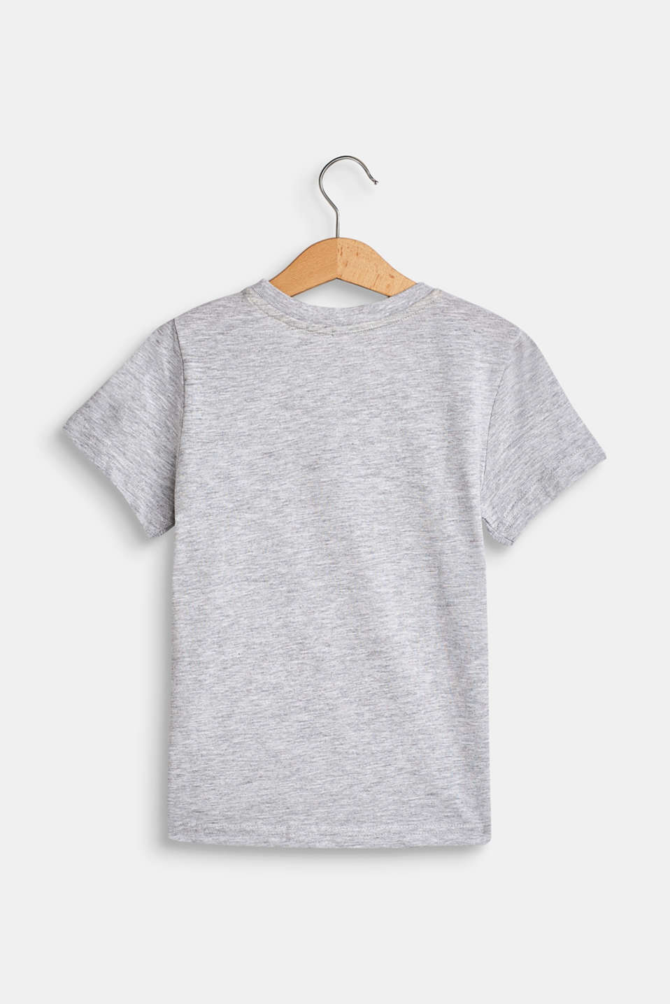 Front print T-shirt, 100% cotton, HEATHER SILVER, detail image number 1