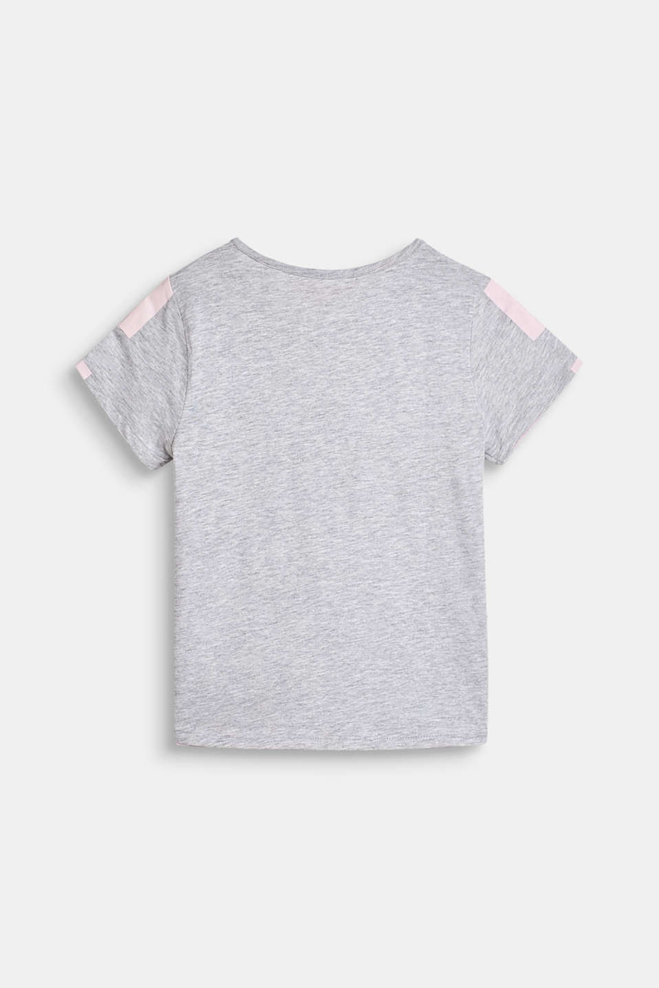 Melange top with printed lettering, LCHEATHER SILVER, detail image number 1