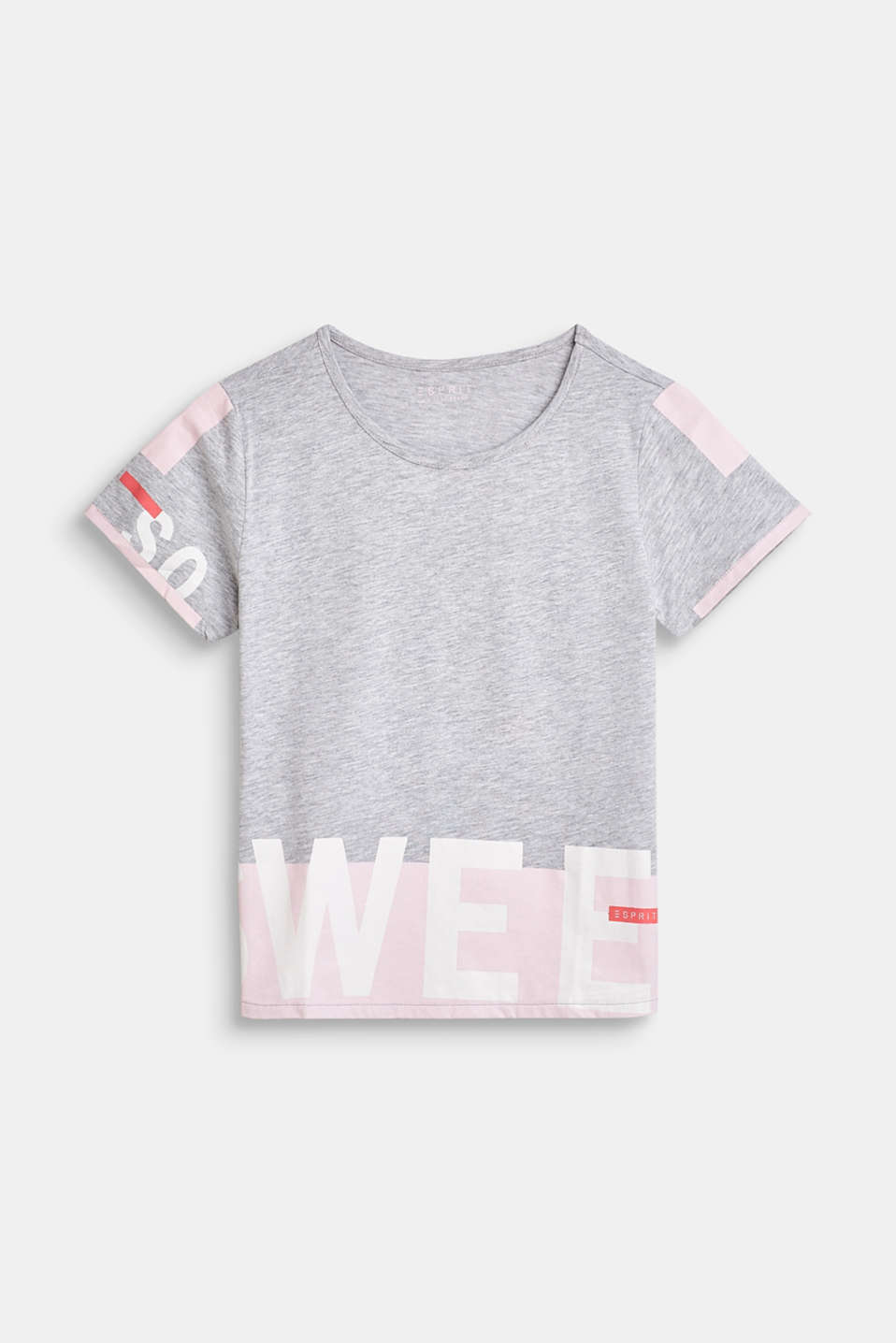 Esprit - Melange top with printed lettering