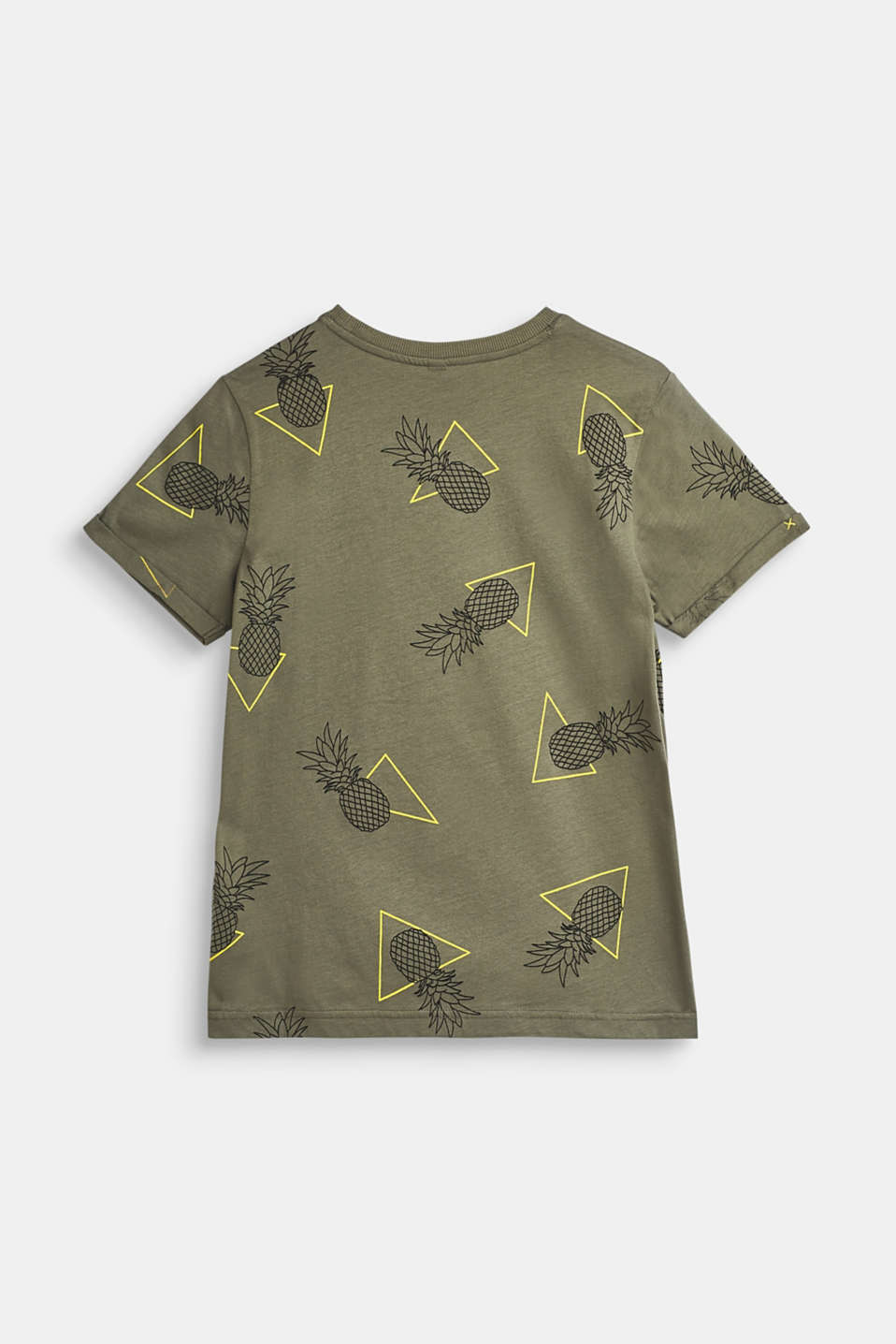 T-shirt with an all-over print, 100% cotton, LCLIGHT KHAKI, detail image number 1