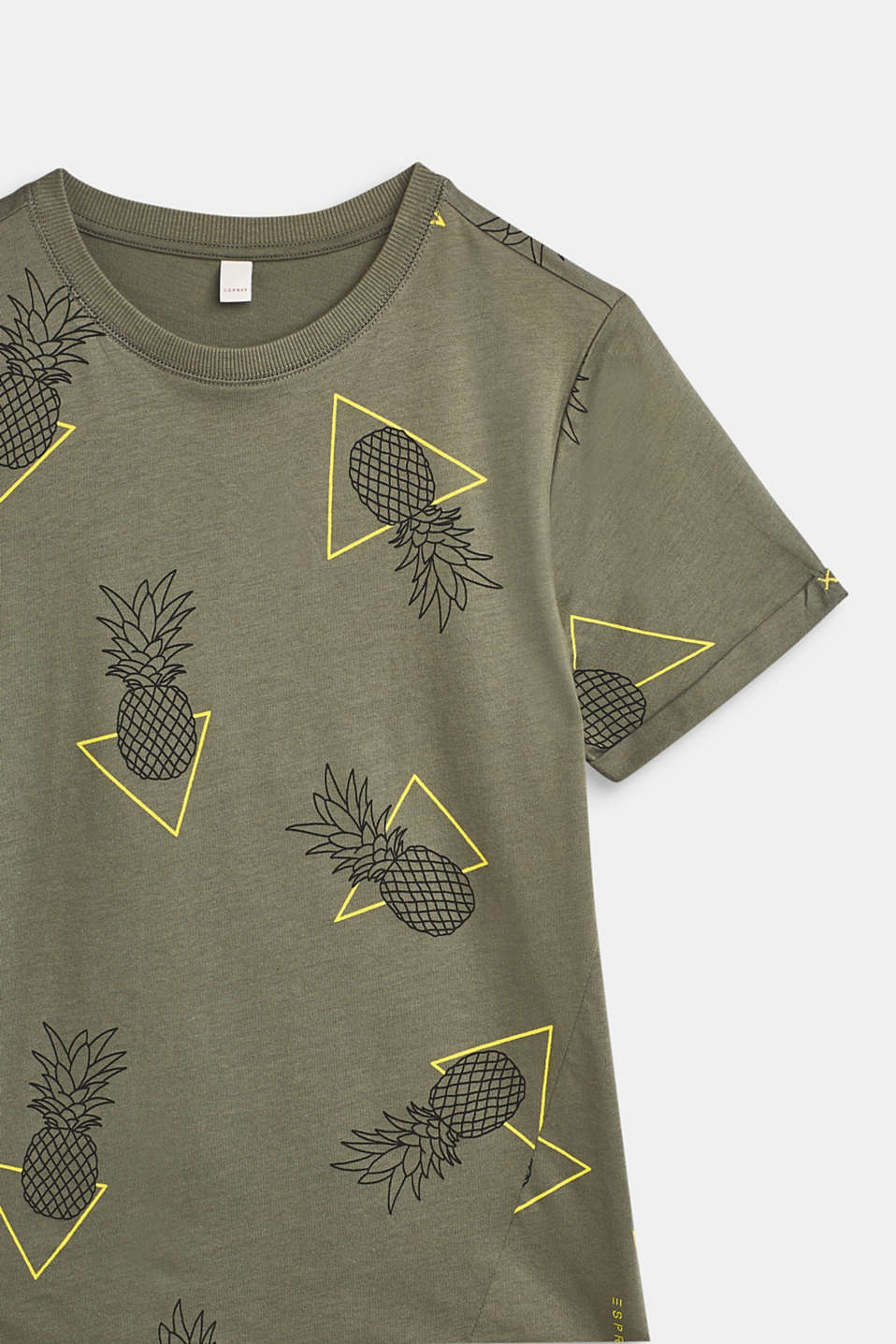T-shirt with an all-over print, 100% cotton, LCLIGHT KHAKI, detail image number 3