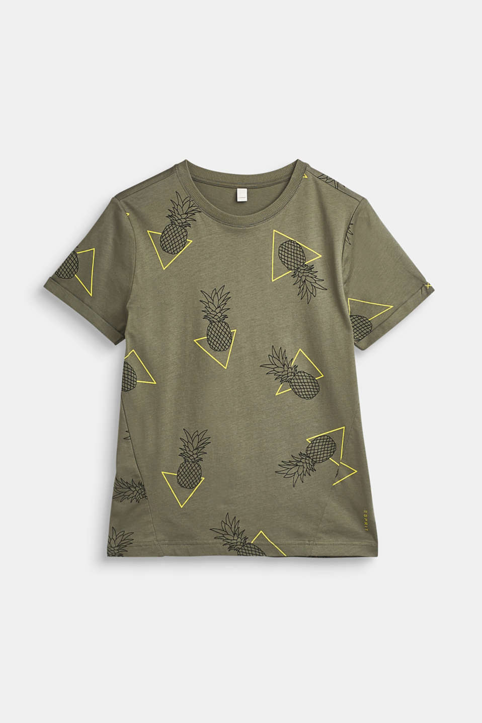 Esprit - T-shirt with an all-over print, 100% cotton