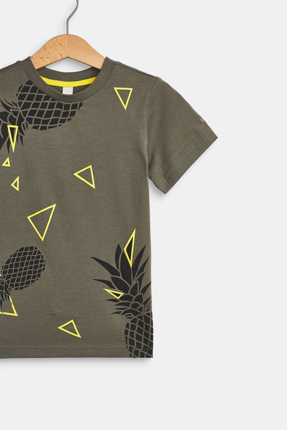 Pineapple print T-shirt, 100% cotton, LIGHT KHAKI, detail image number 2