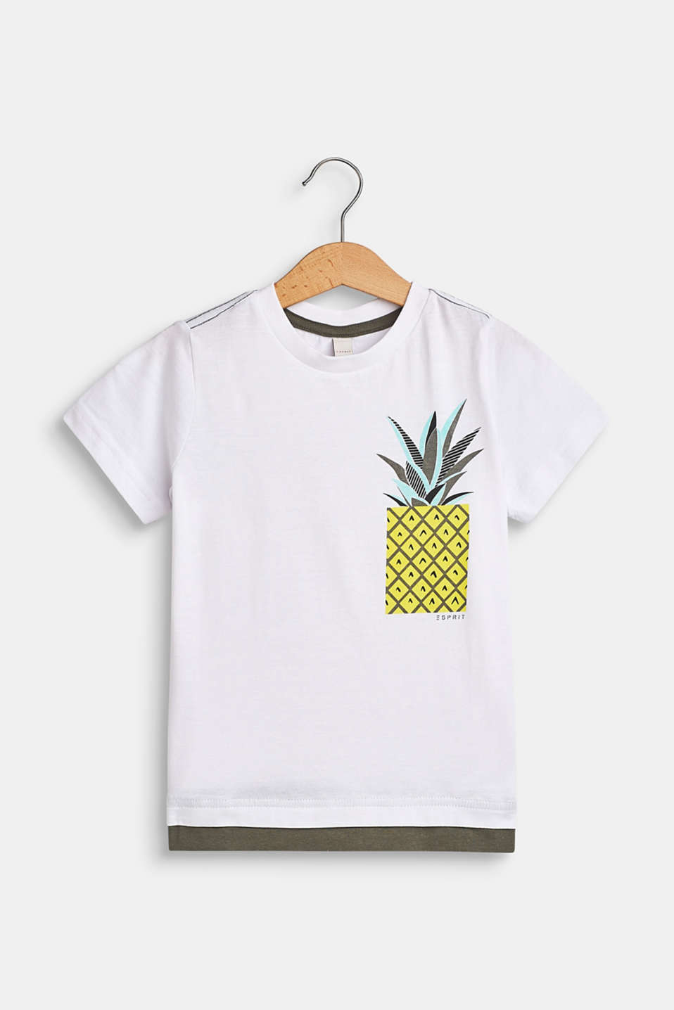 Pineapple print T-shirt, 100% cotton