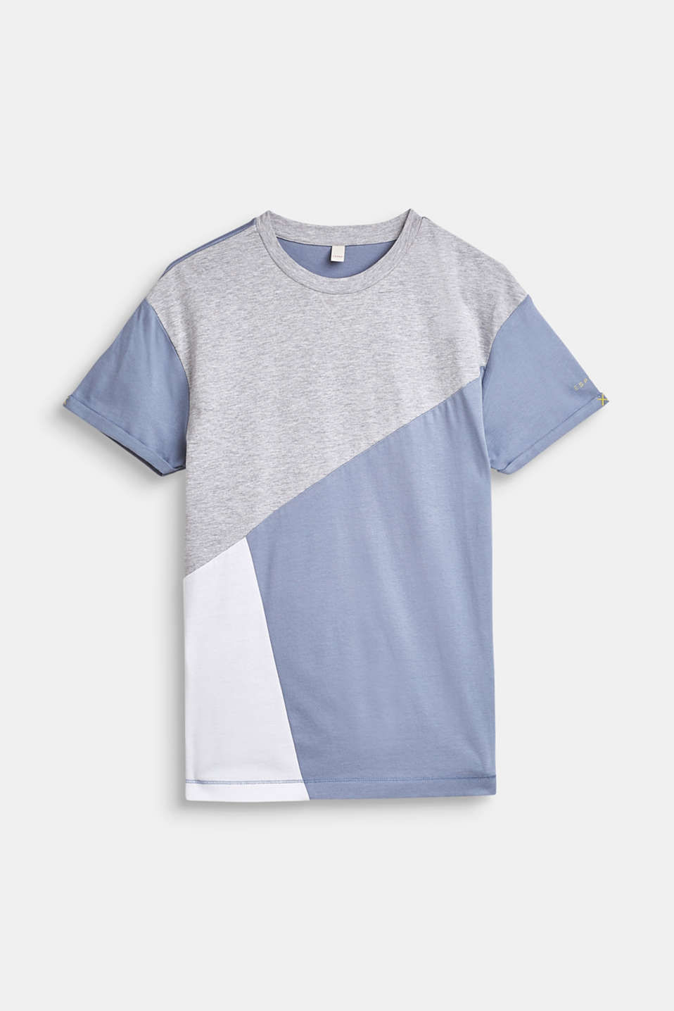 Esprit - T-shirt à motif colour blocking, 100 % coton