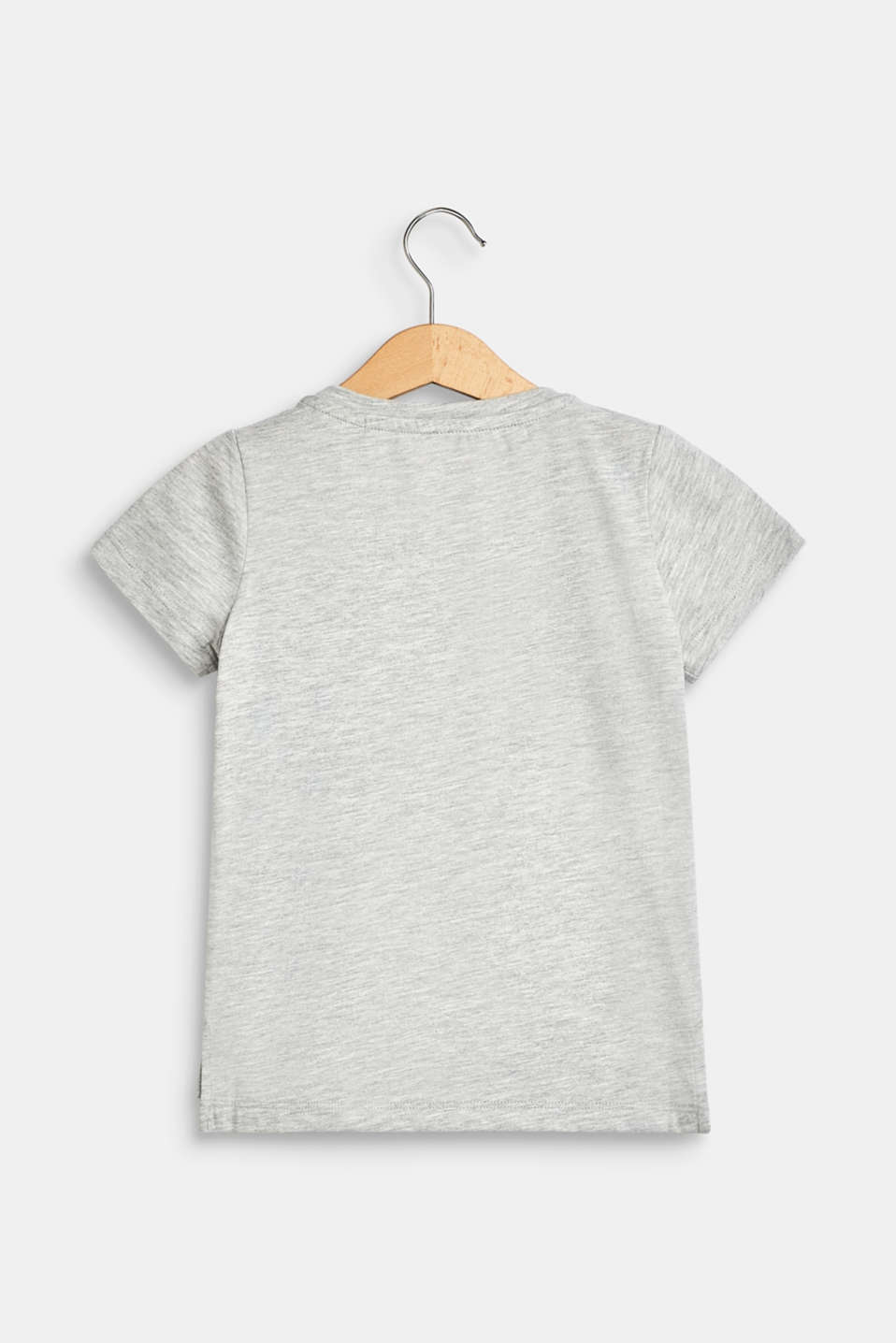 100% cotton T-shirt with reversible sequins, HEATHER SILVER, detail image number 1