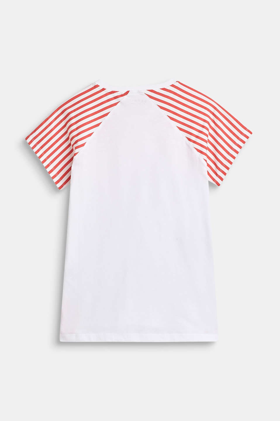 100% cotton T-shirt with striped sleeves, LCCORAL, detail image number 1