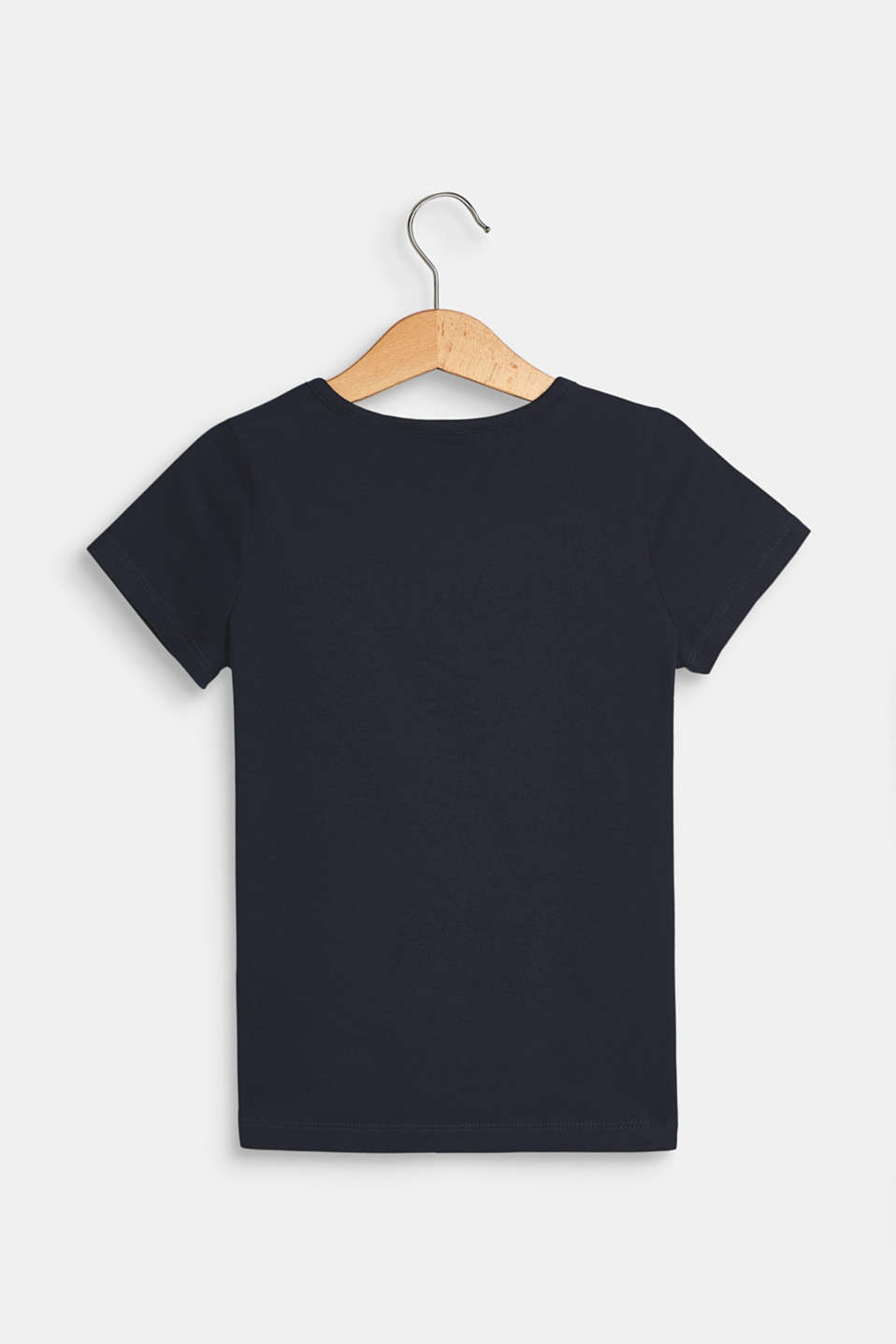Stretch T-shirt with a motif pocket, NAVY BLUE, detail image number 1