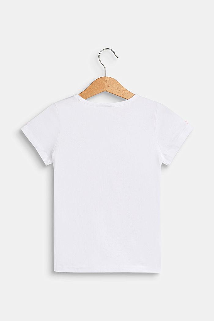Stretch-T-Shirt mit Motiv-Tasche, WHITE, detail image number 1