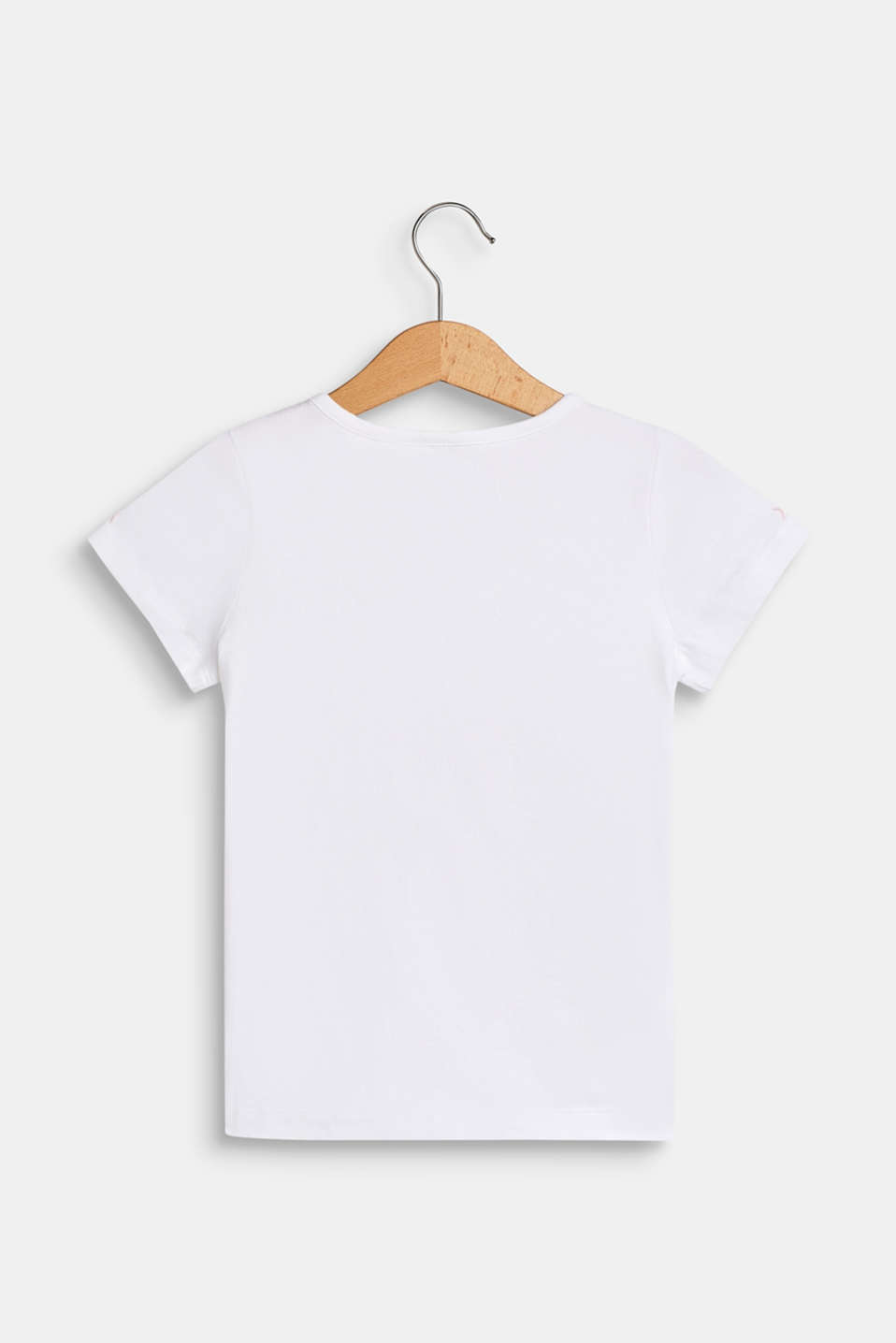 Stretch T-shirt with a motif pocket, WHITE, detail image number 1