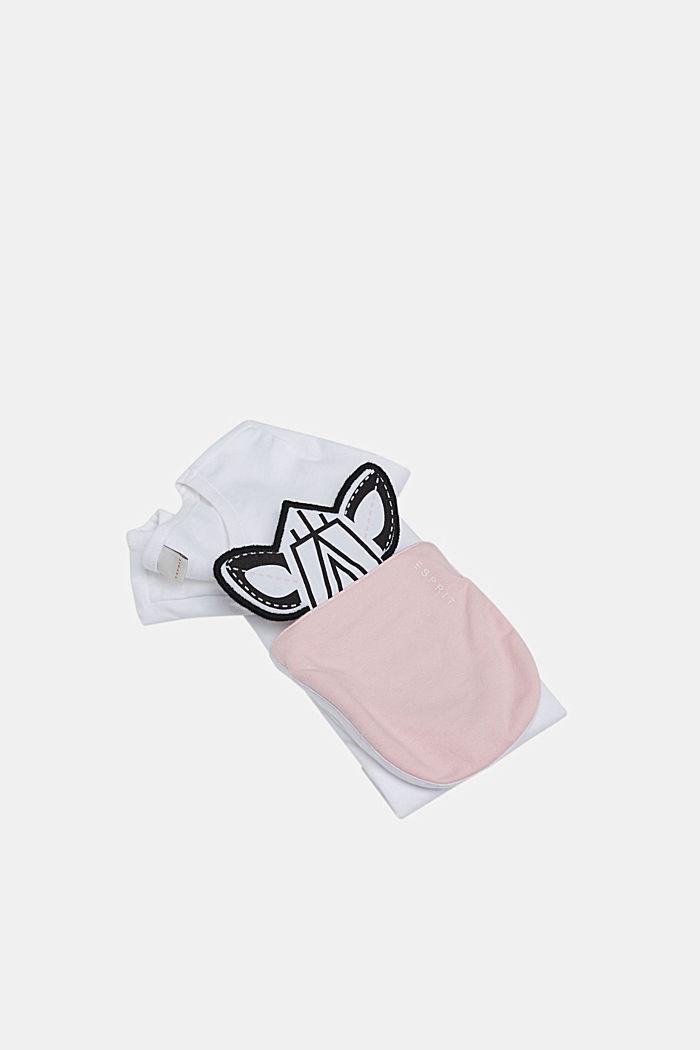 Stretch-T-Shirt mit Motiv-Tasche, WHITE, detail image number 2