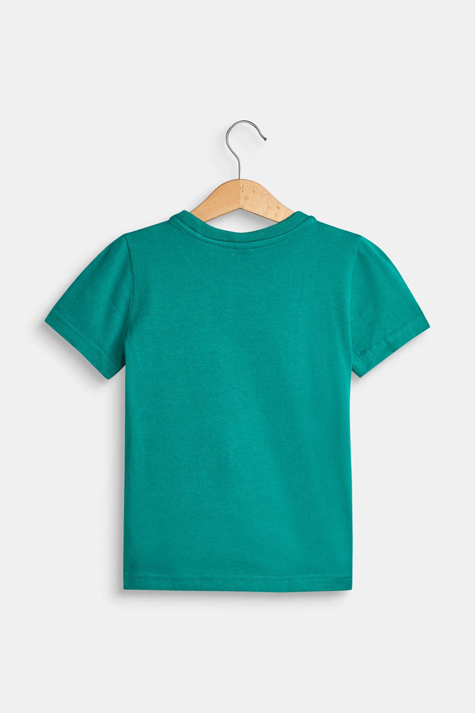 T-shirt with a motif pocket, 100% cotton, GREEN, detail image number 1