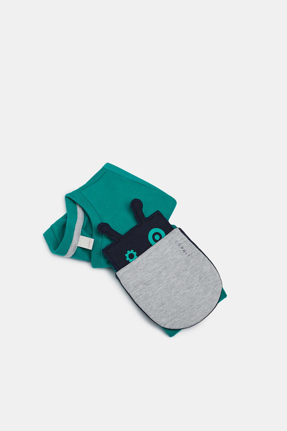 T-shirt with a motif pocket, 100% cotton, GREEN, detail image number 2