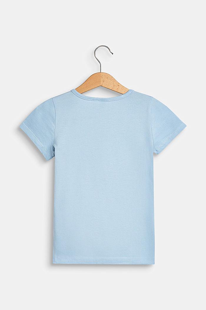 T-shirt z kieszonką z motywem, 100% bawełna, SKY BLUE, detail image number 1