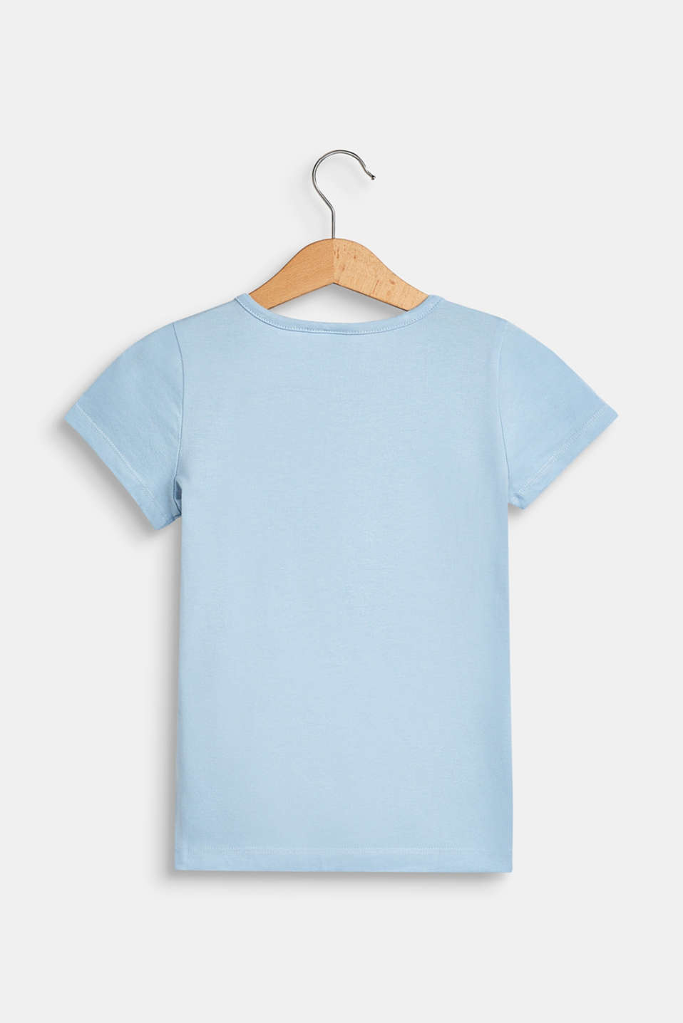 T-shirt with a motif pocket, 100% cotton, SKY BLUE, detail image number 1