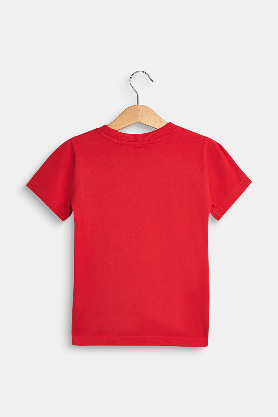 T-shirt with a motif pocket, 100% cotton, RED, detail image number 1