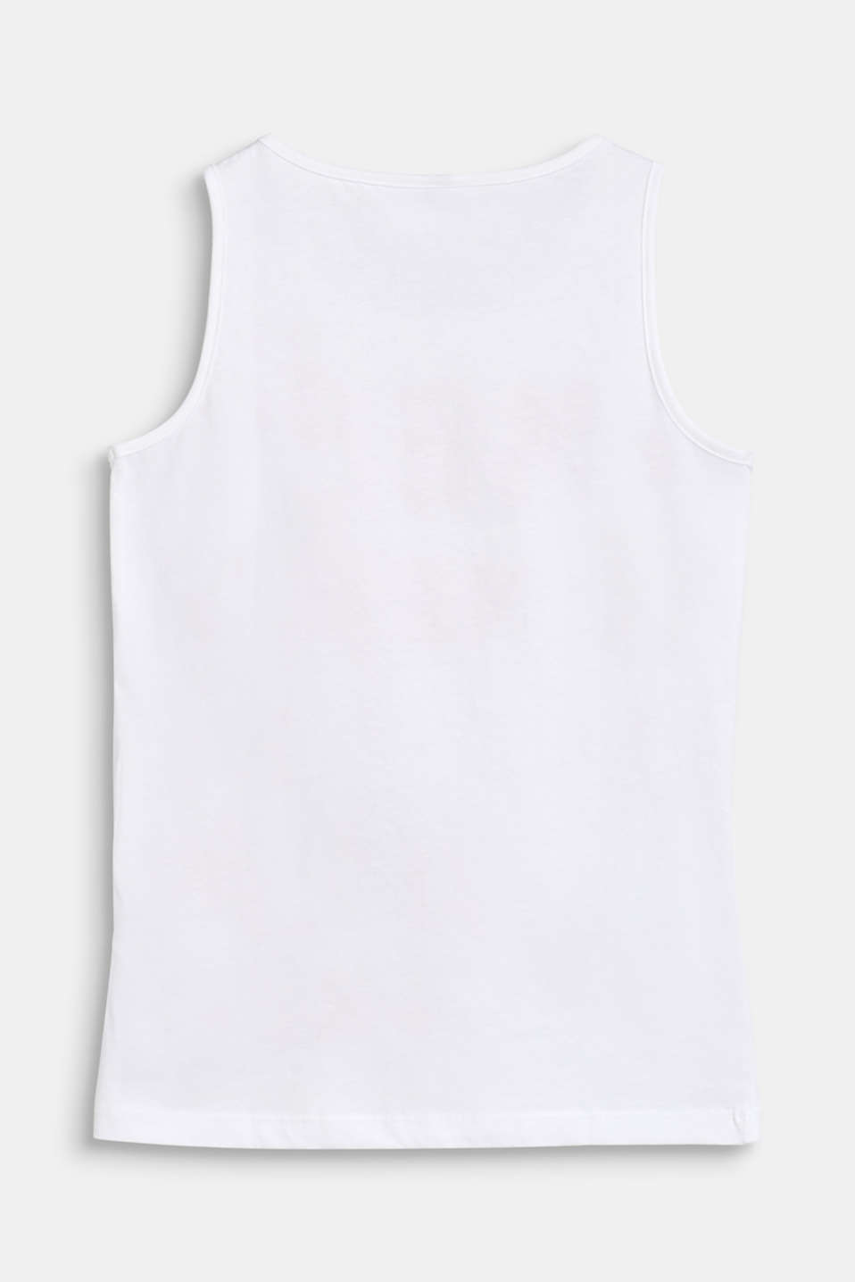 Vest top with a statement print, 100% cotton, LCWHITE, detail image number 1