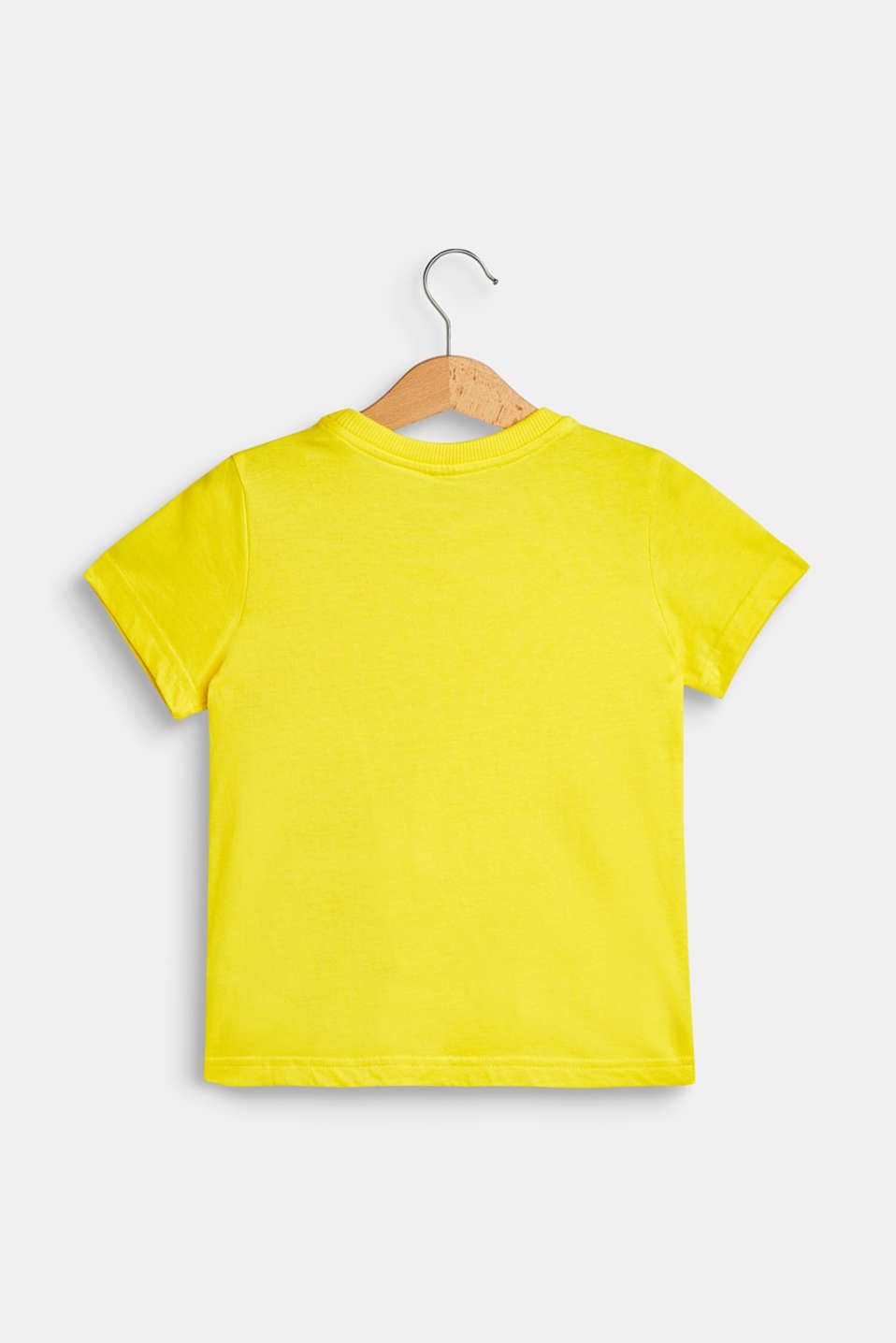 T-shirt with a motif pocket, 100% cotton, BRIGHT YELLOW, detail image number 1