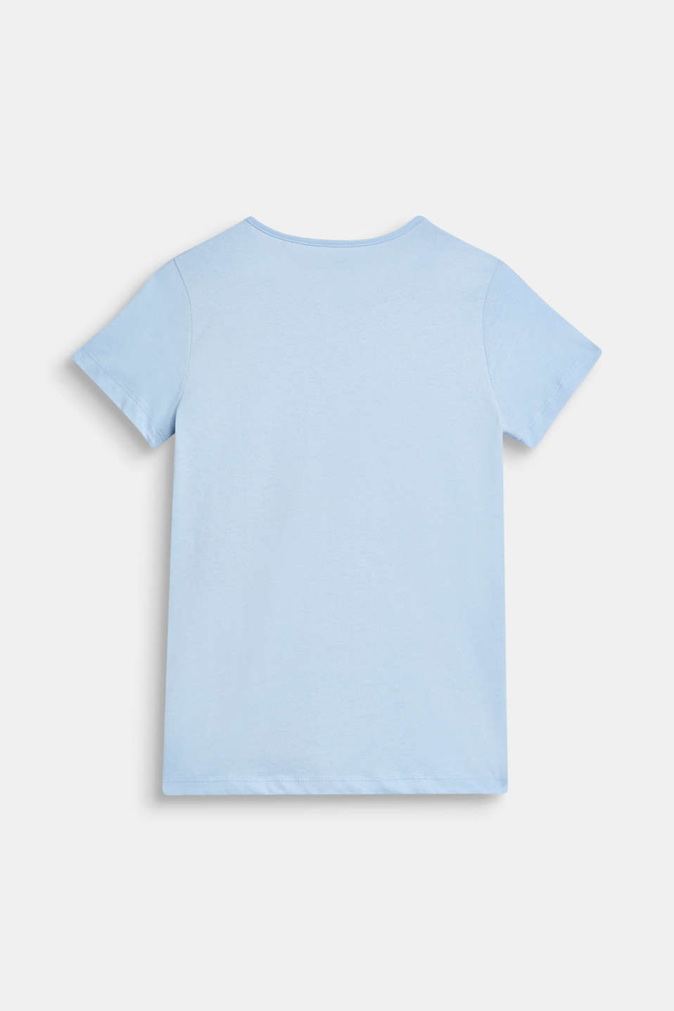 T-shirt with palm print, 100% cotton, LCSKY BLUE, detail image number 1