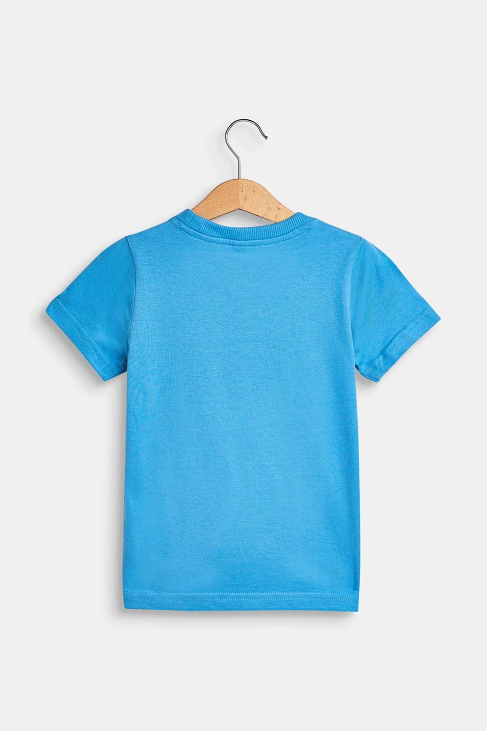 T-shirt with a motif pocket, 100% cotton, AZUR BLUE, detail image number 1
