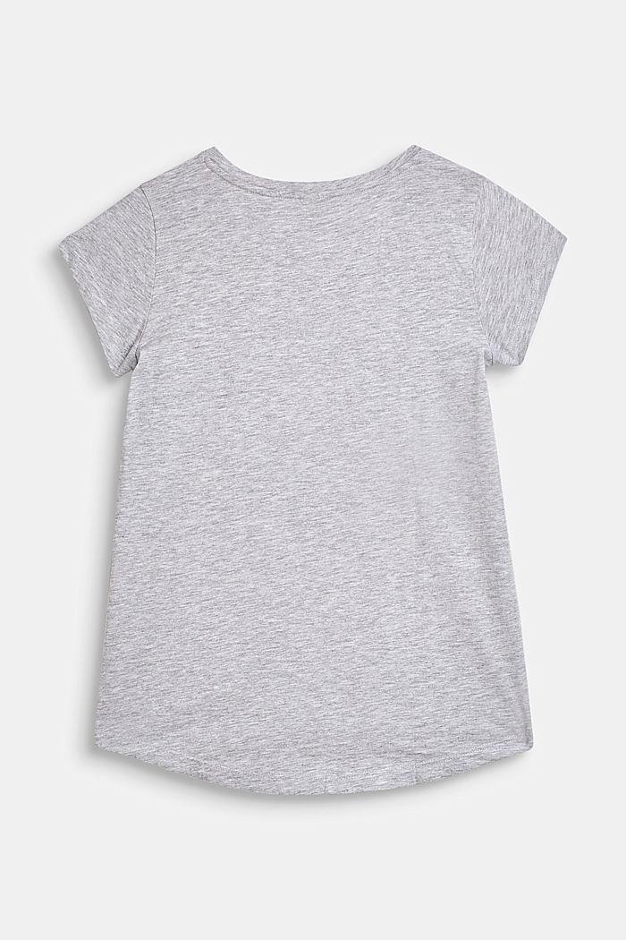 Shirt med citat-/tukanprint på fronten, HEATHER SILVER, detail image number 1