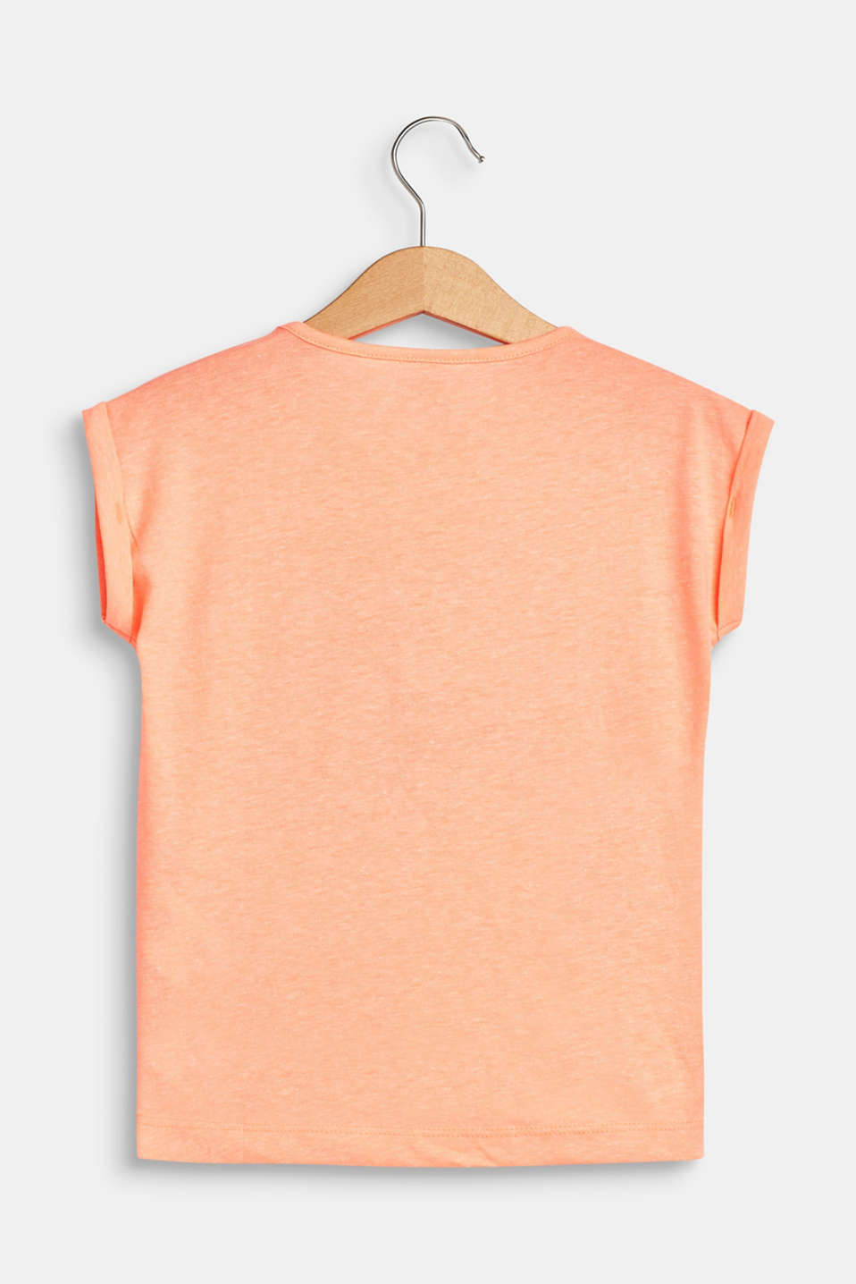 T-shirt with a glittery toucan print, NEON CORAL, detail image number 1