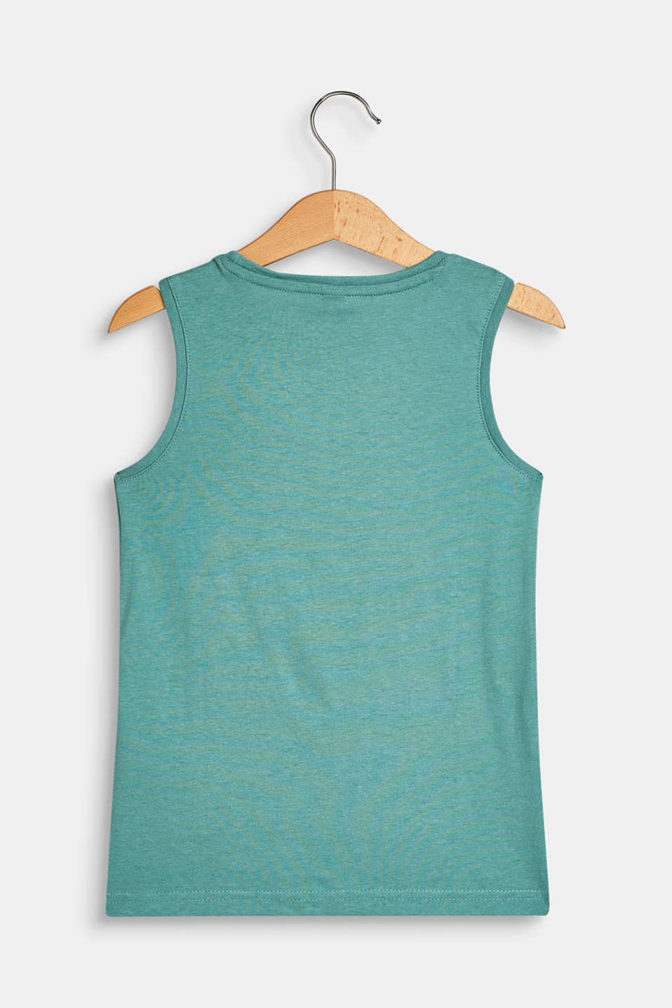 Vest top with a statement print, 100% cotton, SOFT GREEN, detail image number 1