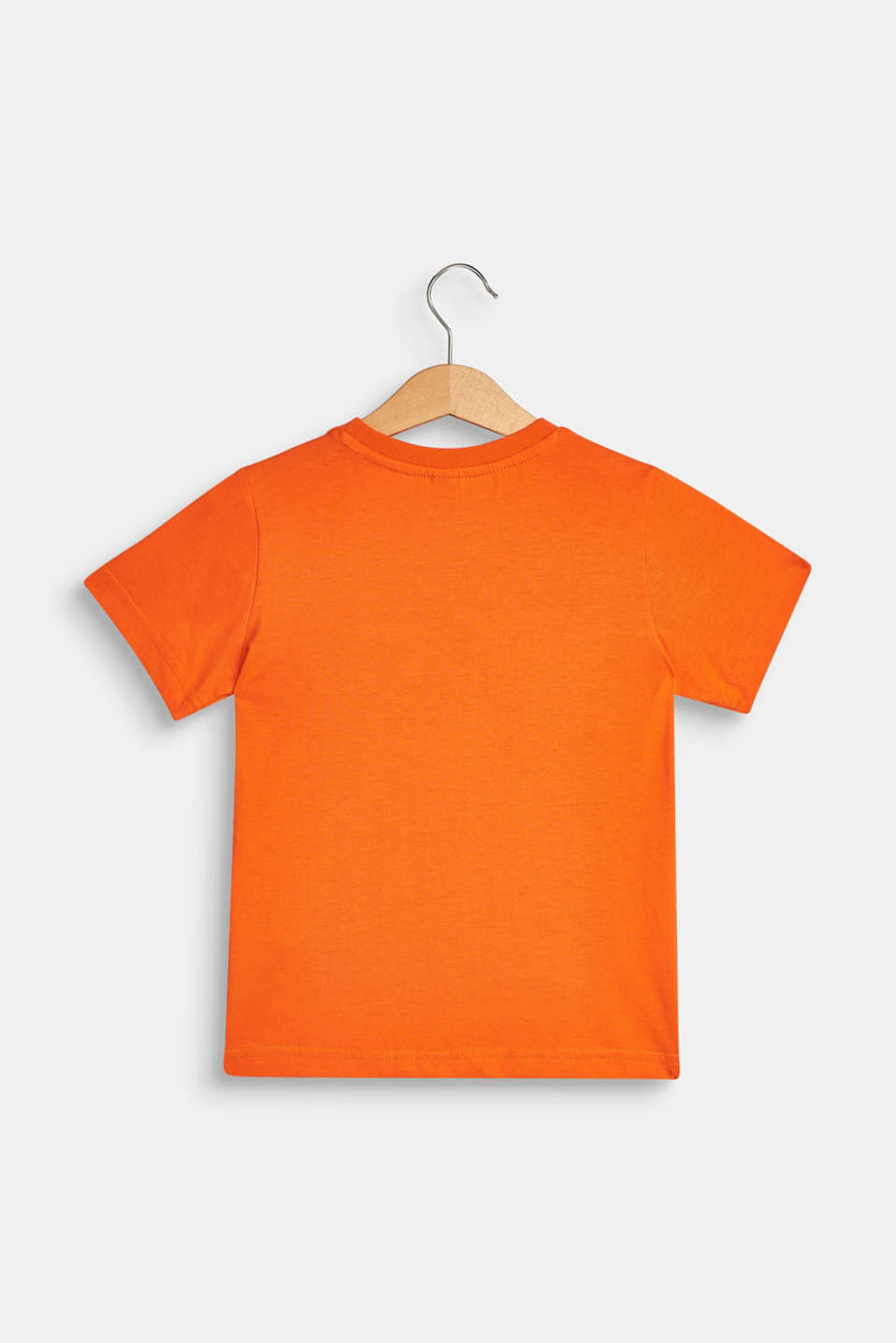 T-shirt with tropical print, 100% cotton, BRIGHT ORANGE, detail image number 1