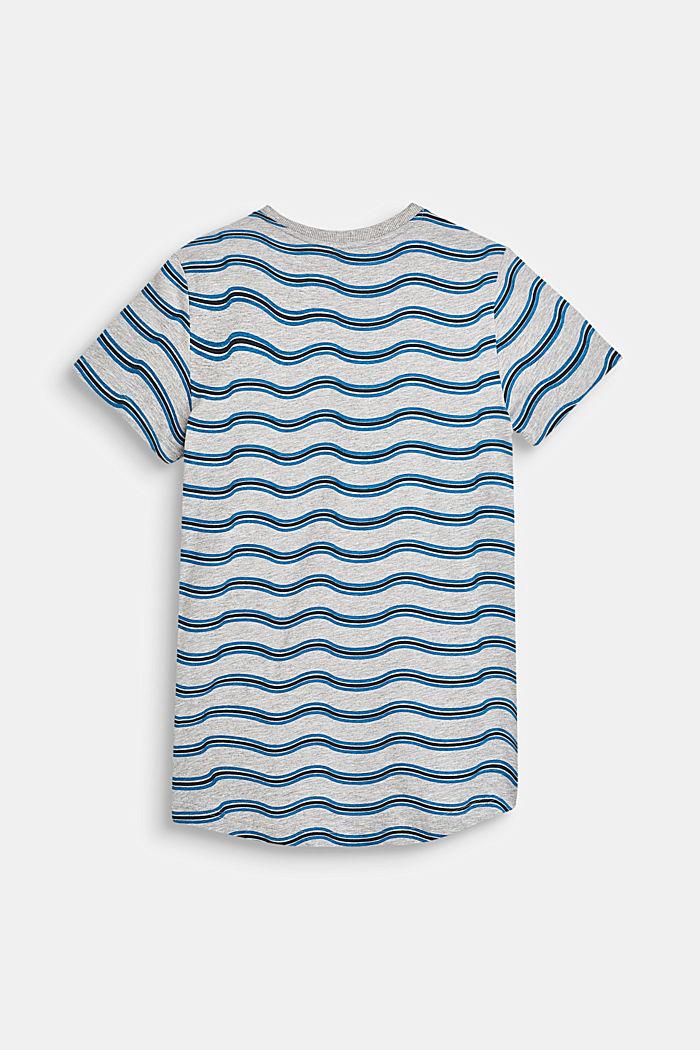 T-Shirt mit Wellen-Print, aus Baumwoll-Mix, LCHEATHER GREY, detail image number 1