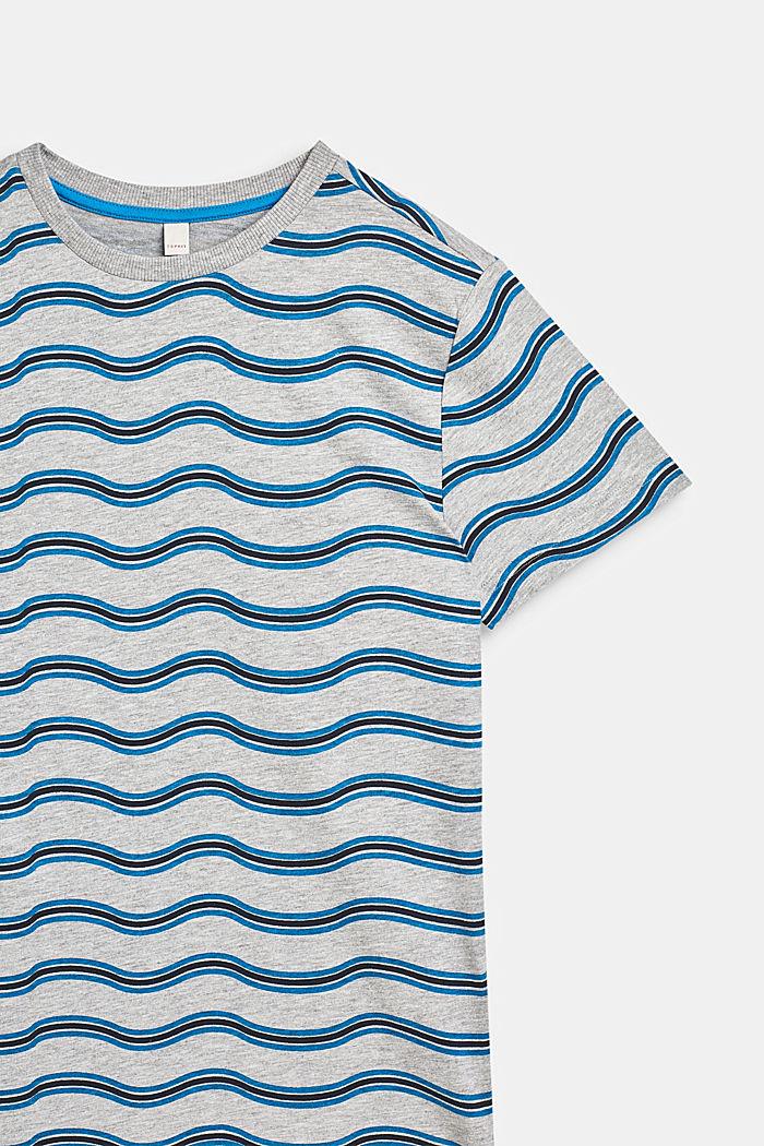 T-Shirt mit Wellen-Print, aus Baumwoll-Mix, LCHEATHER GREY, detail image number 2