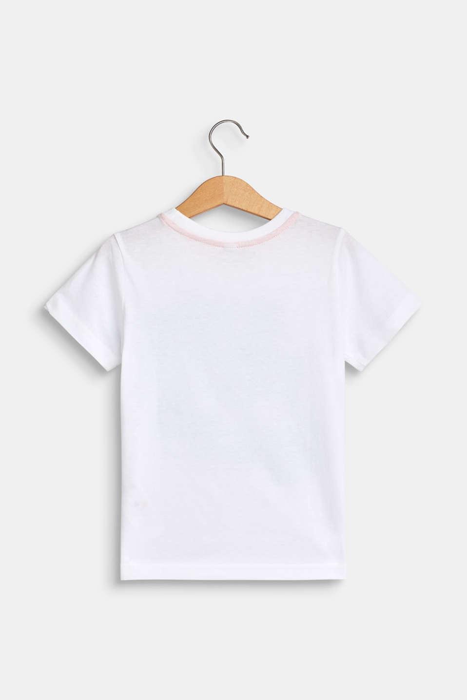 Photo print T-shirt, 100% cotton, WHITE, detail image number 1