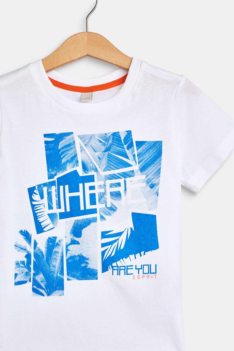 Photo print T-shirt, 100% cotton, WHITE, detail image number 2