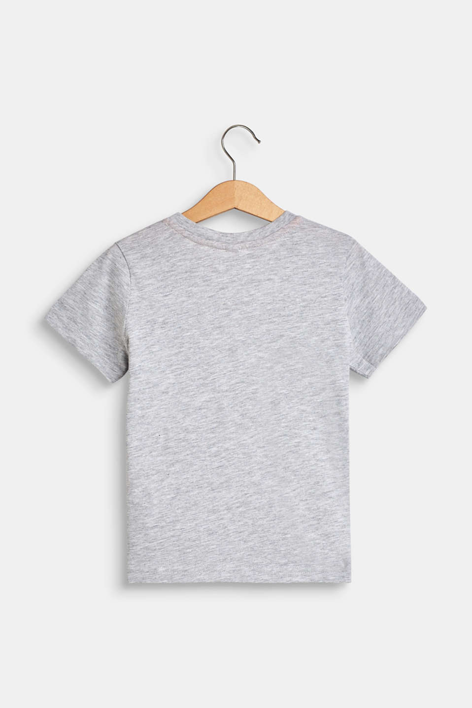 Photo print T-shirt, 100% cotton, HEATHER SILVER, detail image number 1