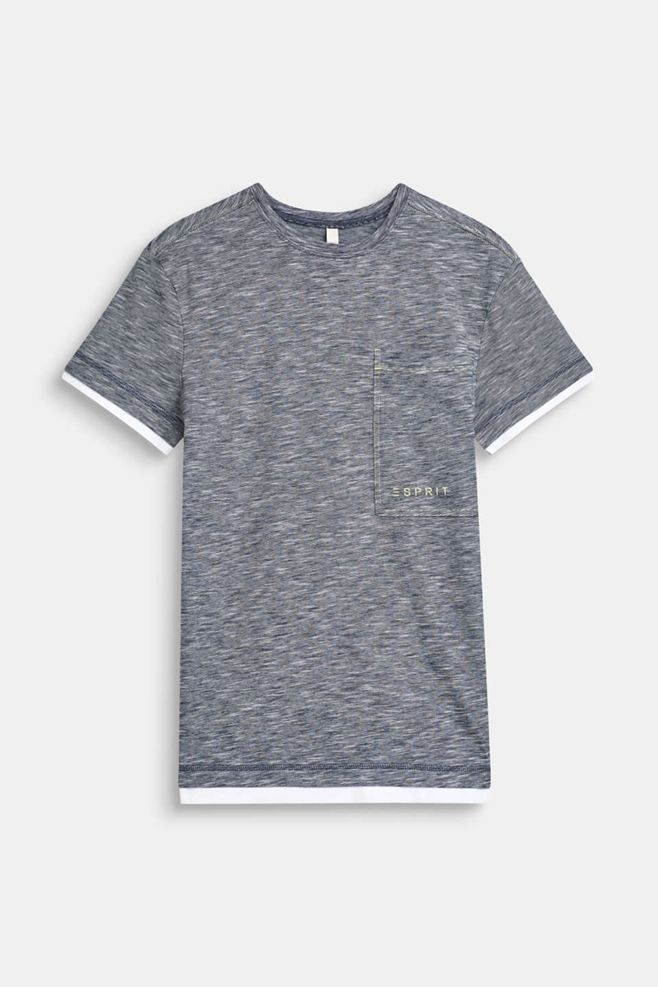 Esprit - Melange layered T-shirt, 100% cotton