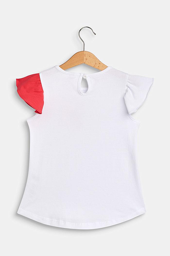 T-shirt me tukan-print, bomuldsstretch, WHITE, detail image number 1