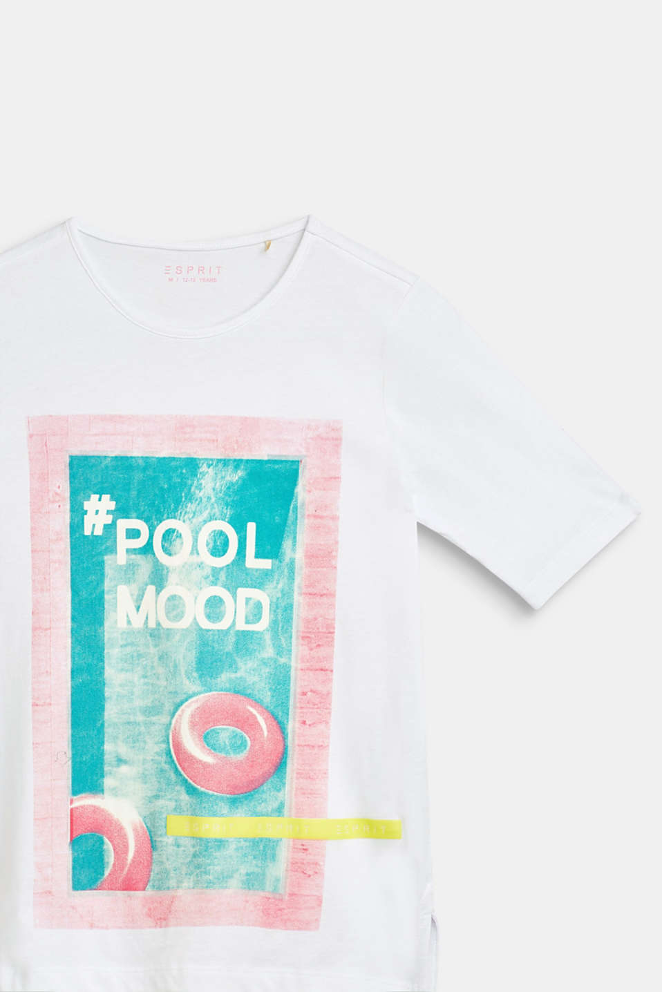 T-shirt with pool print, 100% cotton, LCWHITE, detail image number 2