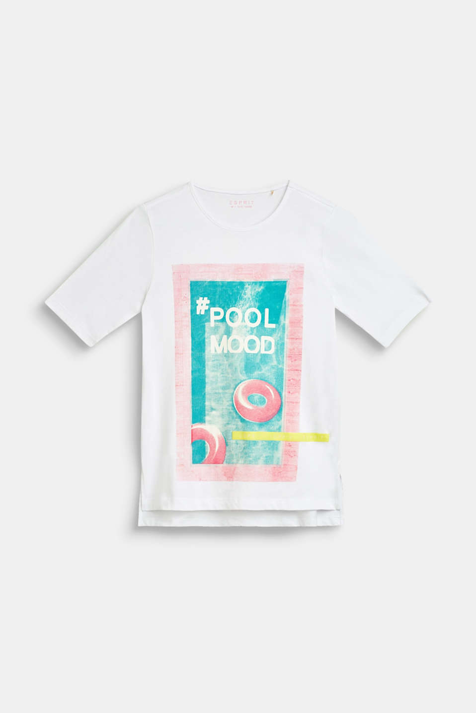 T-shirt with pool print, 100% cotton, LCWHITE, detail image number 0