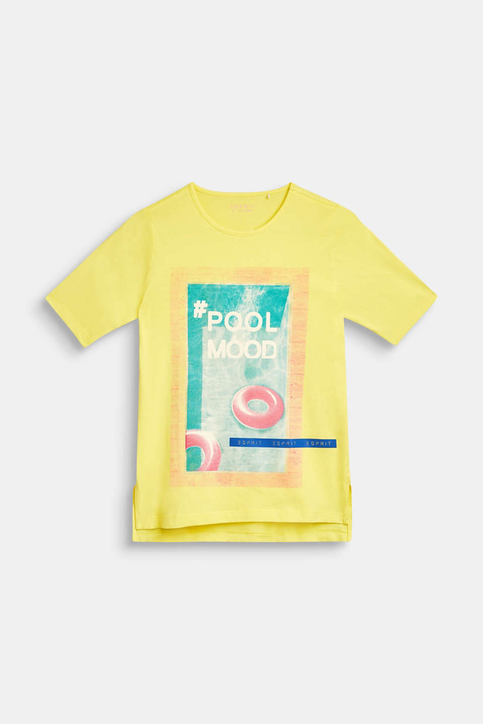 T-shirt with pool print, 100% cotton, LCLEMON, detail image number 0