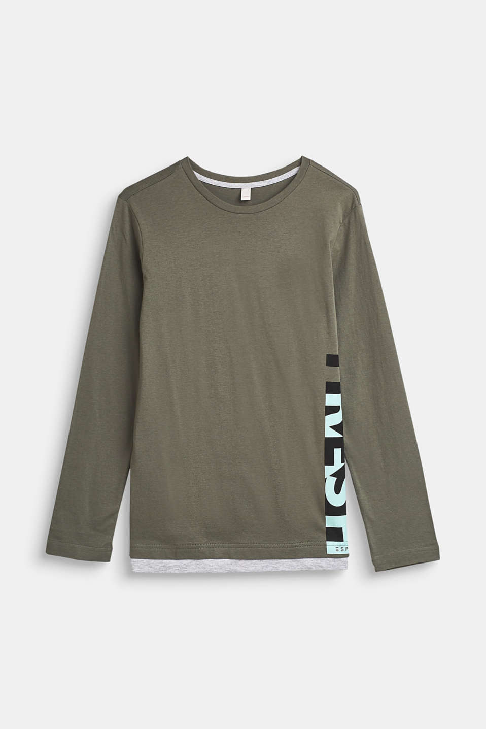Esprit - Layer-longsleeve med statement-print