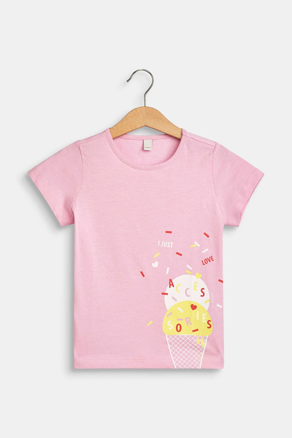 Esprit - T-shirt with an ice cream print, 100% cotton