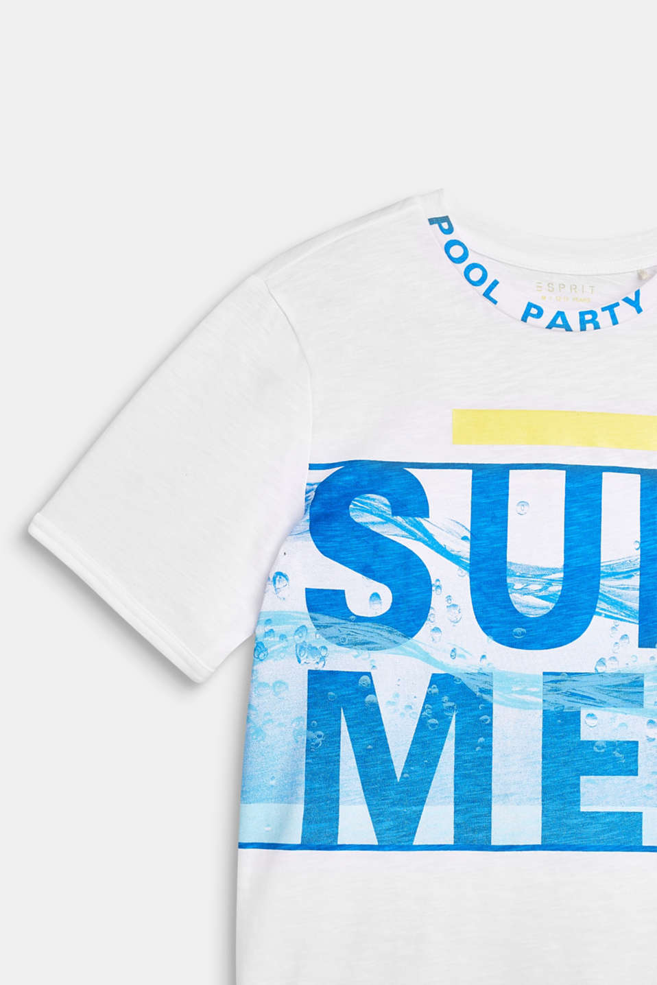 T-shirt with a summer print, 100% cotton, LCWHITE, detail image number 2