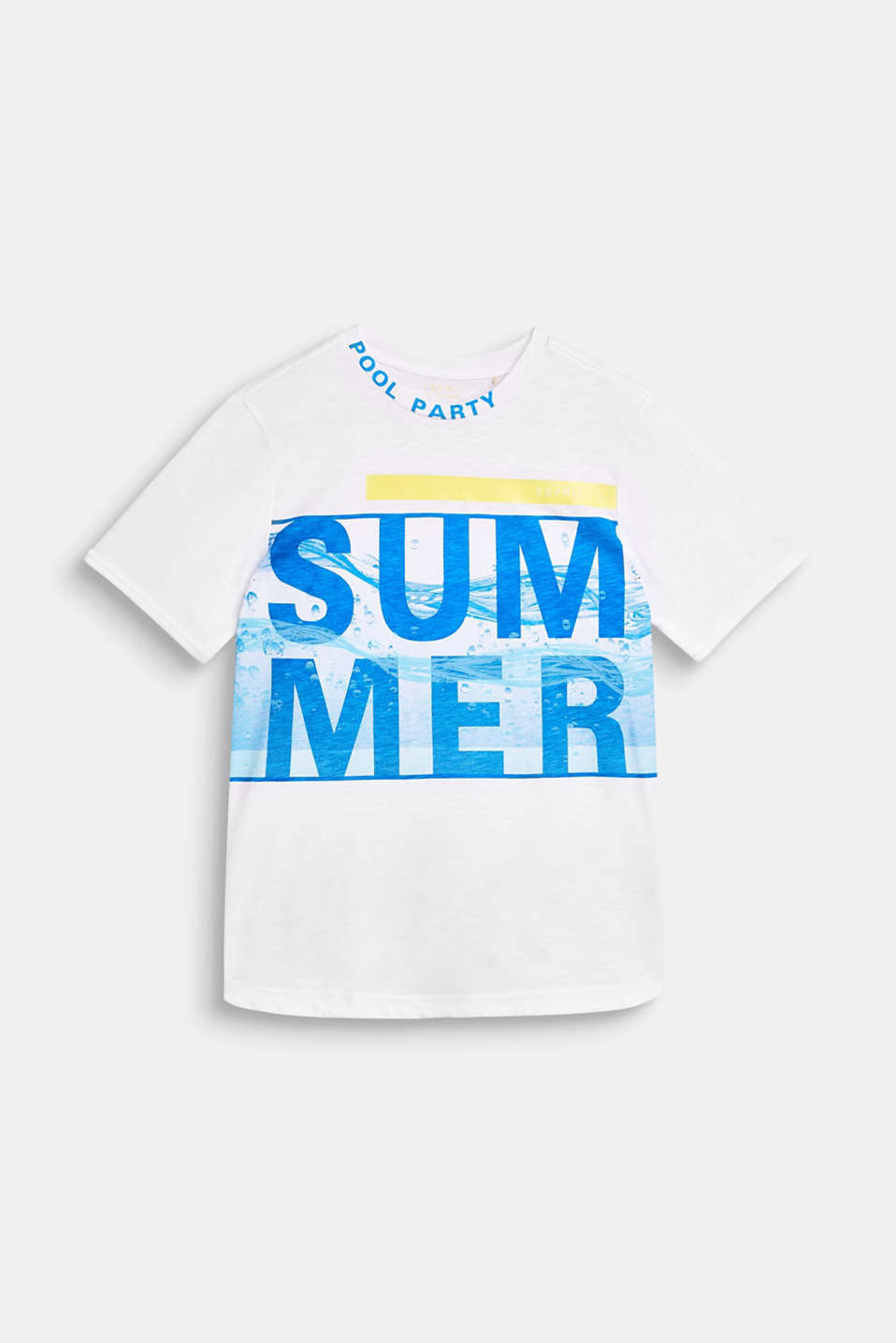 T-shirt with a summer print, 100% cotton, LCWHITE, detail image number 0